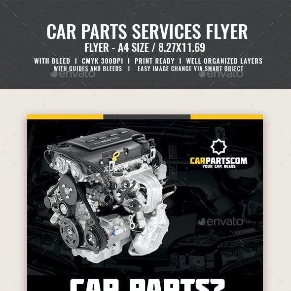 Car Parts Services Flyer