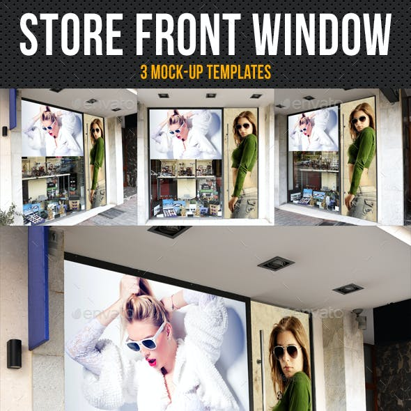 Store Front Window Mock-Up Pack 06