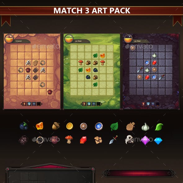 Match-3 Art Pack