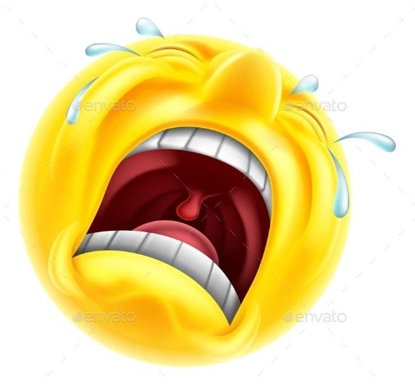 Sad Upset Emoticon By Krisdog Graphicriver