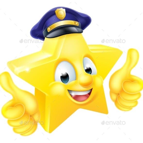 Star Policeman Mascot