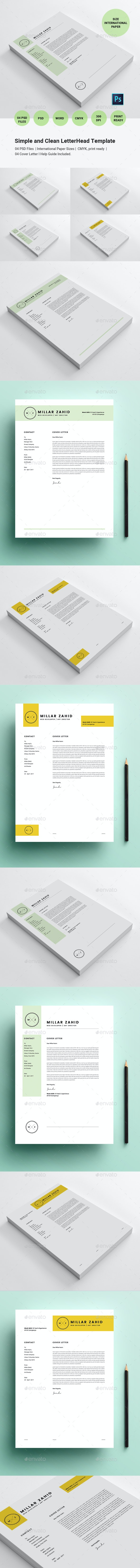 Simple and Clean LetterHead Template - Stationery Print Templates