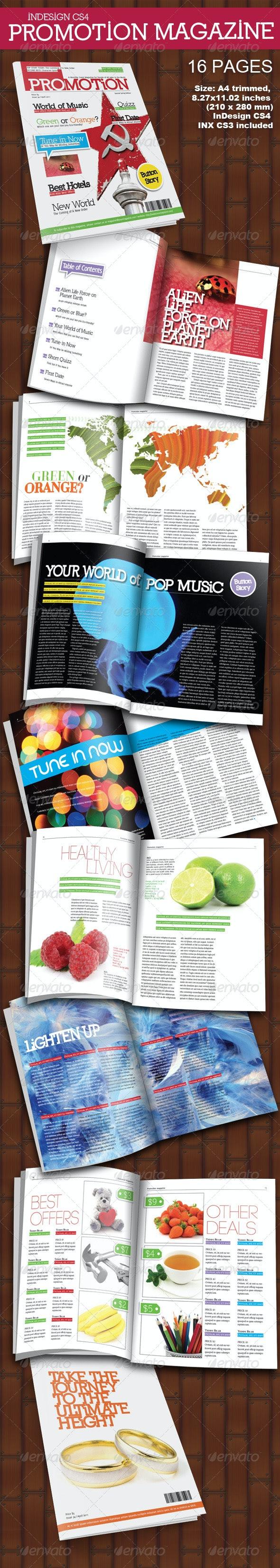 Promotion Magazine 16 Pages - Magazines Print Templates