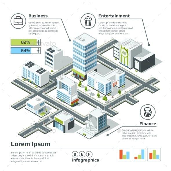 Isometric 3d City Map