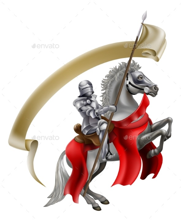 Medieval Spear Knight on Horse - Sports/Activity Conceptual