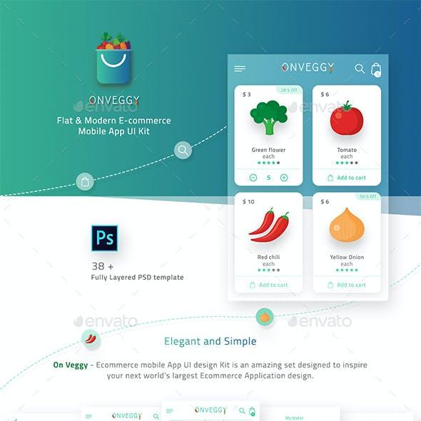On Veggy - Multipurpose E-commerce App UI Kit
