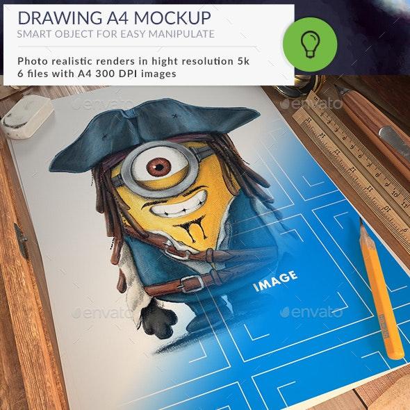 Drawing Mockup - Print Product Mock-Ups