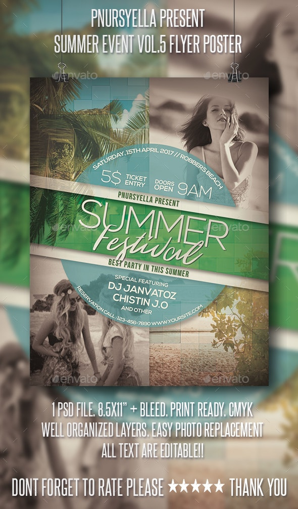 Summer Event Flyer / Poster Vol.5 - Events Flyers
