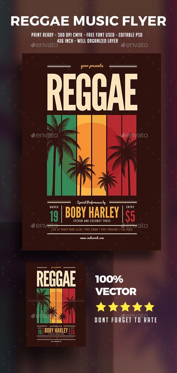 Reggae Music Party Flyer - Flyers Print Templates