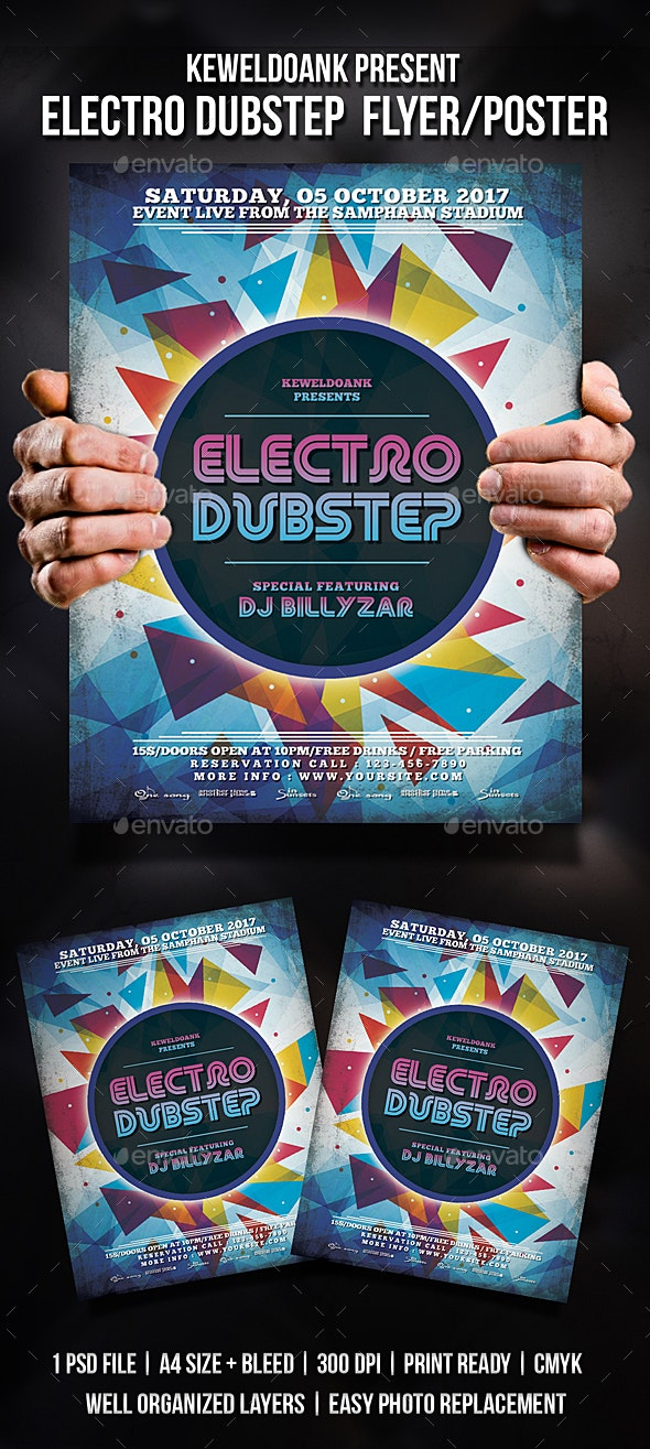 Electro Dubstep Flyer / Poster - Events Flyers
