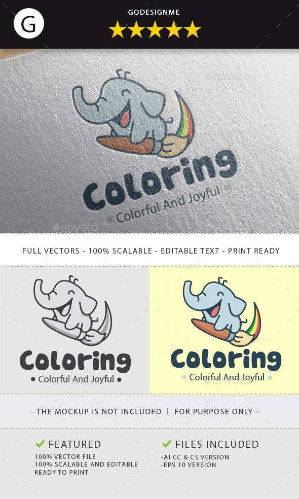 Coloring Logo - Animals Logo Templates