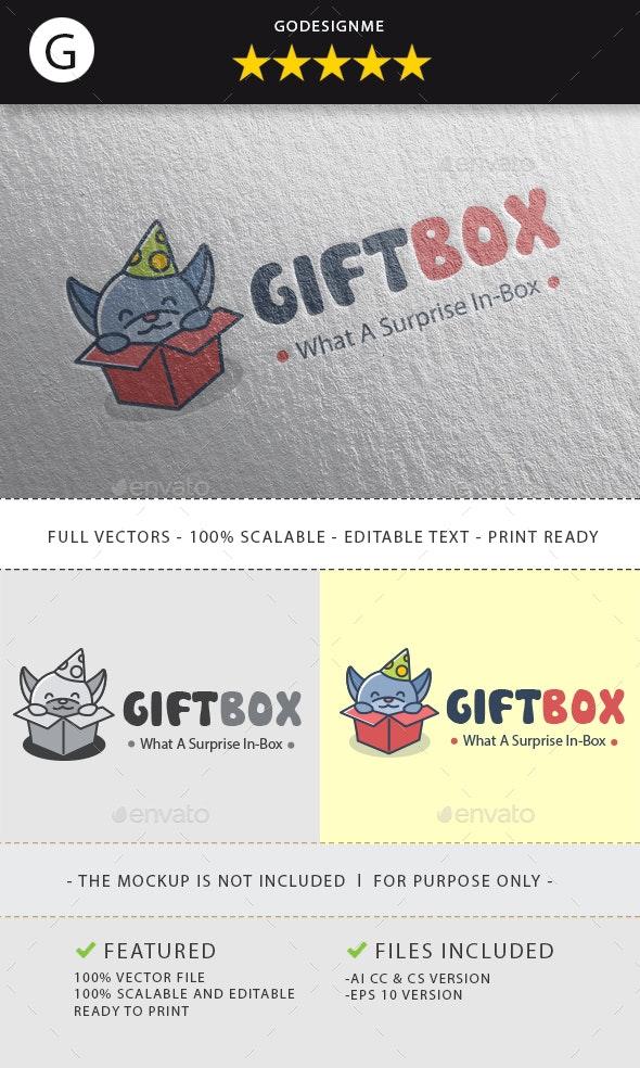Gift Box Logo By Godesignme Kong Graphicriver