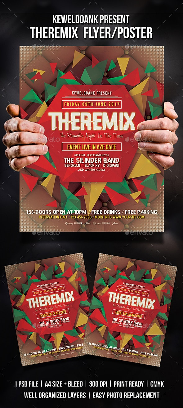 The Remix Flyer / Poster - Clubs & Parties Events