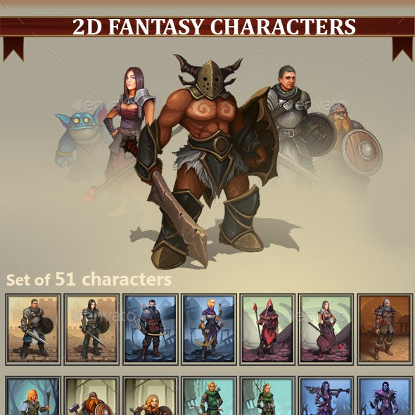 2D Fantasy Characters