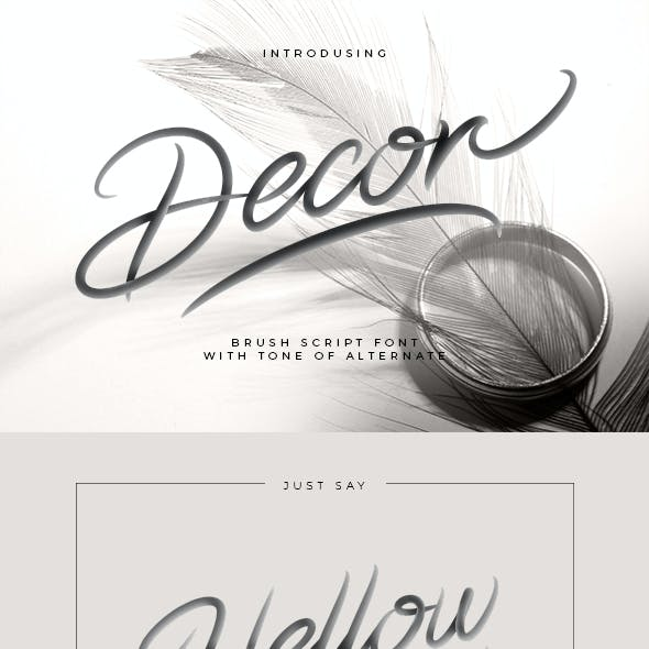 Decor Brush Script Font
