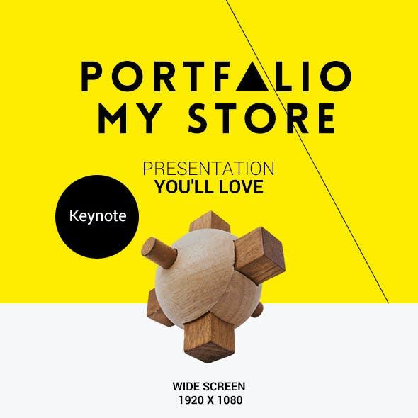 Portfolio Shop Keynote