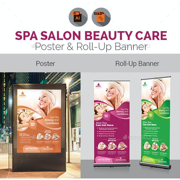 Spa | Beauty Salon Poster & Roll Up Banner