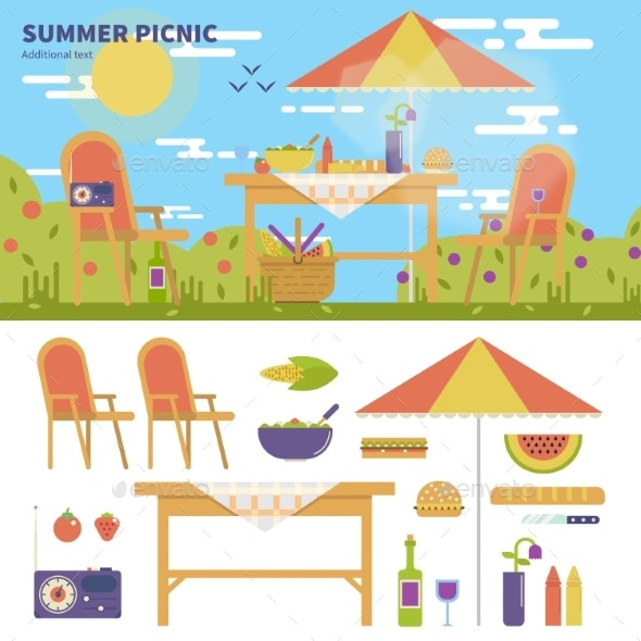 Summer Picnic in the Garden - Landscapes Nature