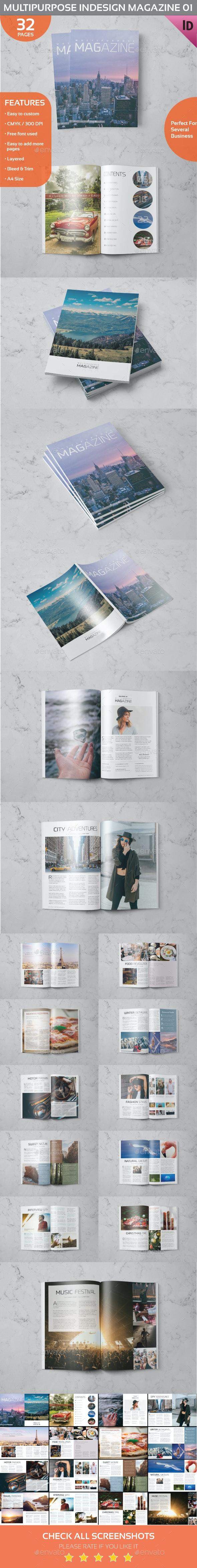 Multipurpose Indesign Magazine 01 - Magazines Print Templates