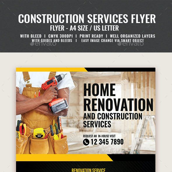 Company Construction and Building Flyer