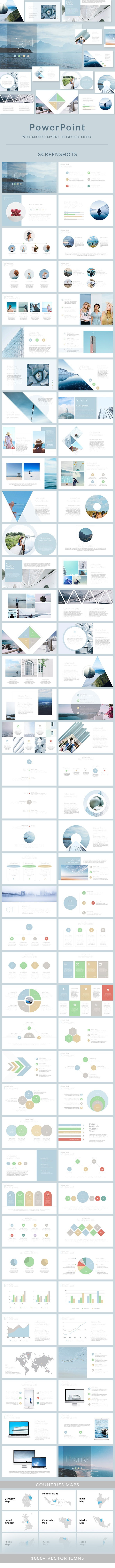 Light - PowerPoint Presentation Template - Business PowerPoint Templates