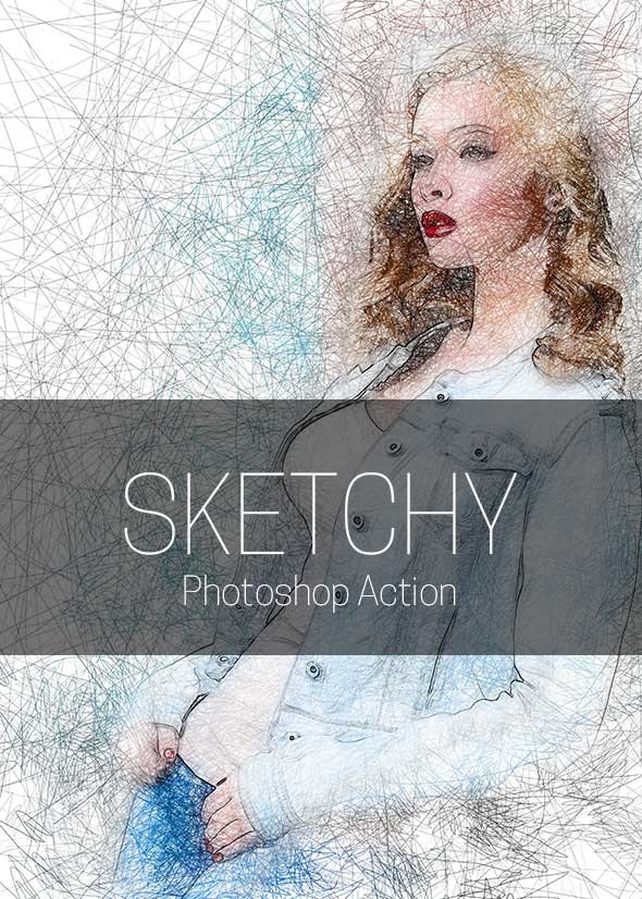 Sketchy Photoshop Action - Photo Effects Actions