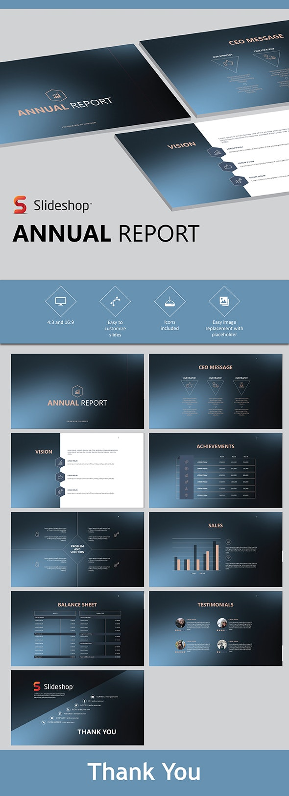 Annual Report - PowerPoint Templates Presentation Templates