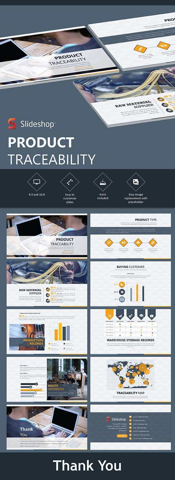 Product Traceability - PowerPoint Templates Presentation Templates
