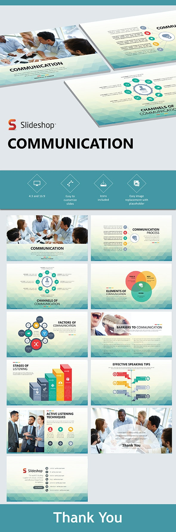 Communication - PowerPoint Templates Presentation Templates