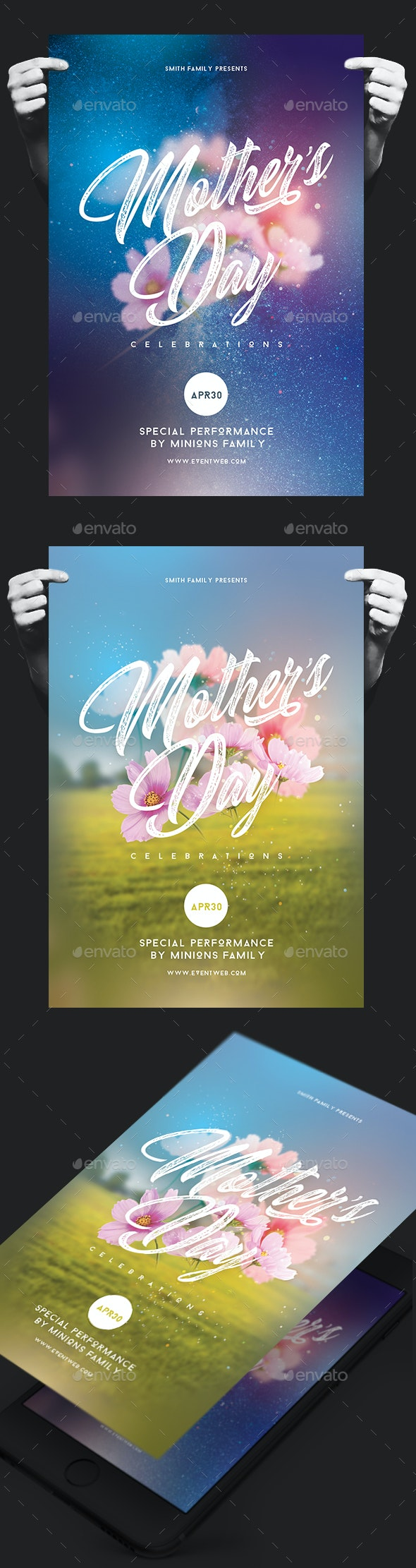 Happy Mother's Day Flyer - Clubs & Parties Events