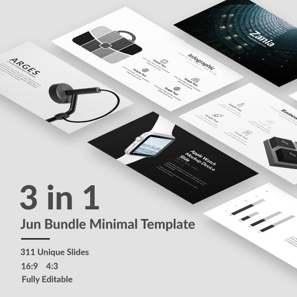 Jun Bundle - Minimal Powerpoint Template