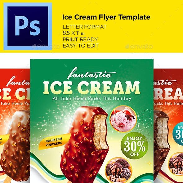 Ice Cream Flyer - Promotion Flyer Template