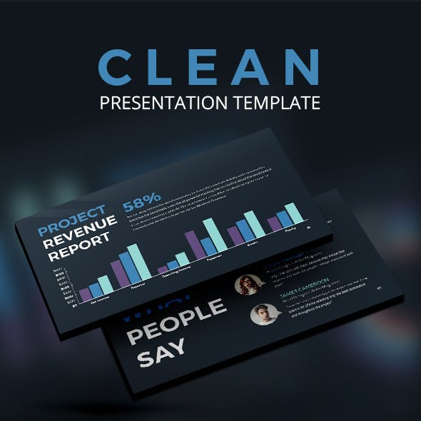 CLEAN - Simple Creative Unique Keynote Template