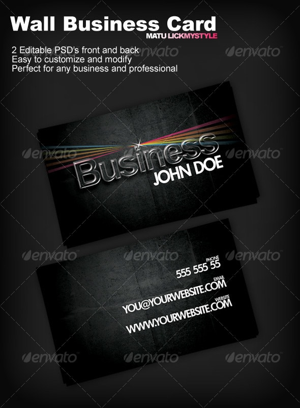 Wall Business Card - Creative Business Cards