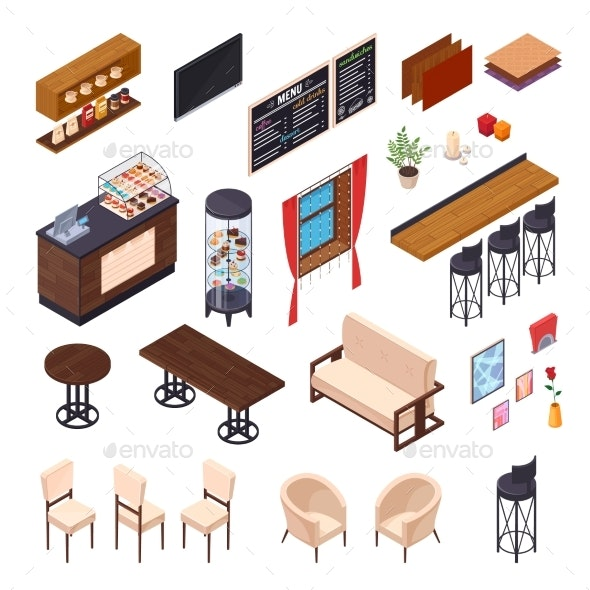 Cafe Dining Furniture Collection - Man-made Objects Objects