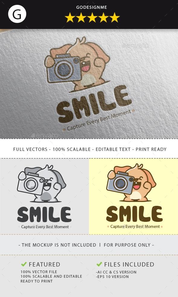 Happy Camera Logo - Animals Logo Templates