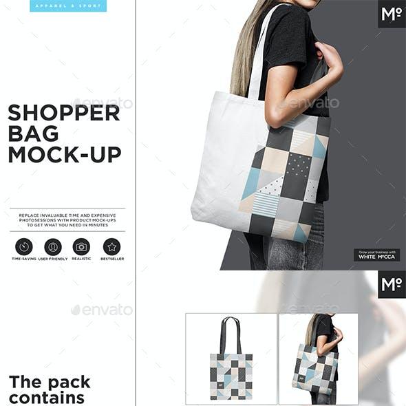 Canvas Shopper / Tote Bag Mock-up