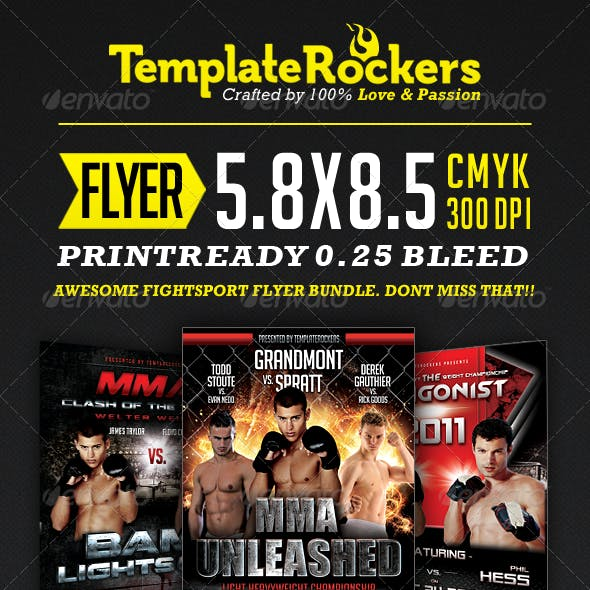 The Fight Flyer Bundle | 3 Fightsport Flyers