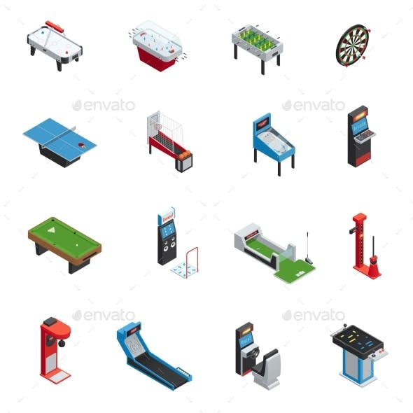 Table Games Game Machine Icon Set
