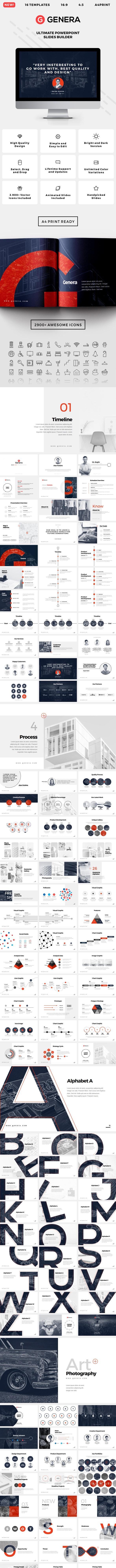 Genera - PowerPoint Slides Builder - Business PowerPoint Templates