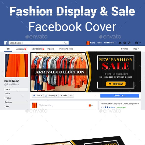 Fashion Display and Sale Facebook Cover