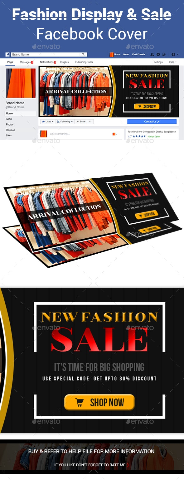 Fashion Display and Sale Facebook Cover - Facebook Timeline Covers Social Media