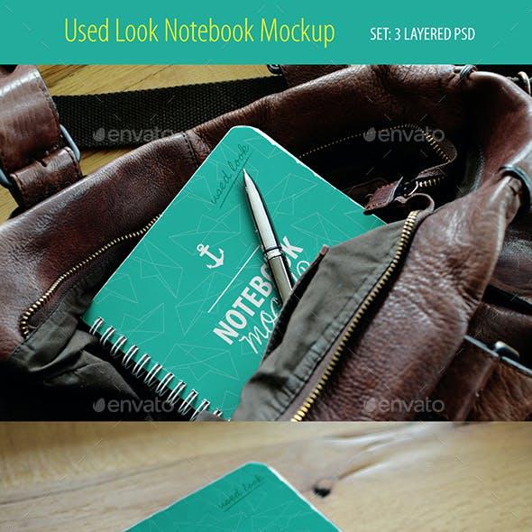 Spiral Notebook Mockup, Used Look - Layered PSD, 3pcs
