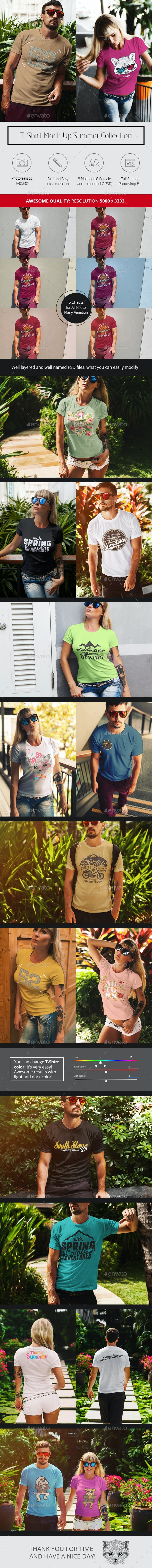 T-Shirt Mock-Up Summer Collection - T-shirts Apparel