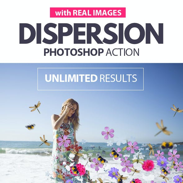 Dispersion with Real Images Photoshop Action