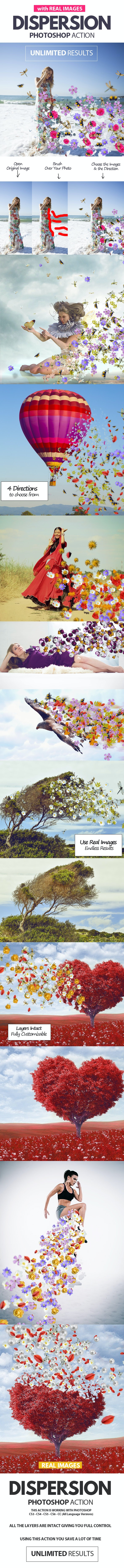 Dispersion with Real Images Photoshop Action - Photo Effects Actions