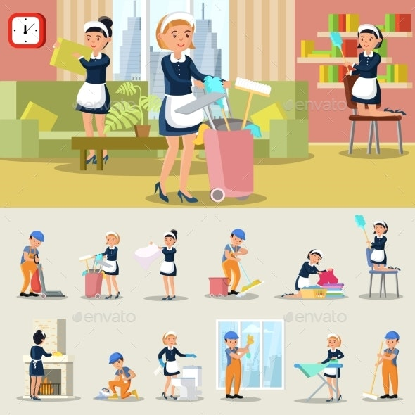 Cleaning Service Concept - Services Commercial / Shopping