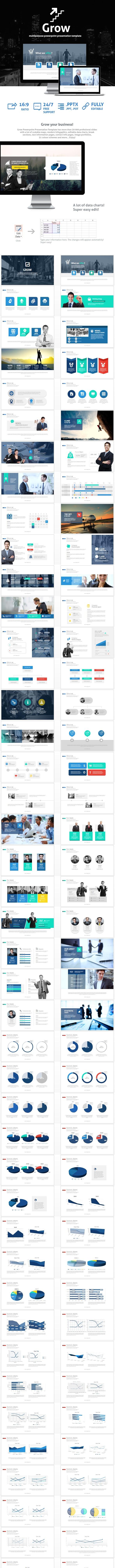 Grow Powerpoint Presentation Template - Business PowerPoint Templates