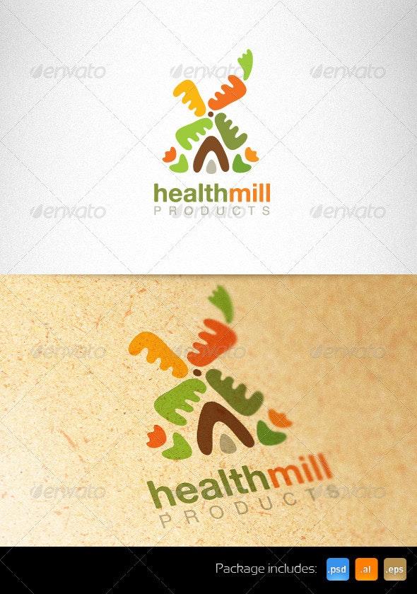 Health Mill Creative Logo Template - Nature Logo Templates