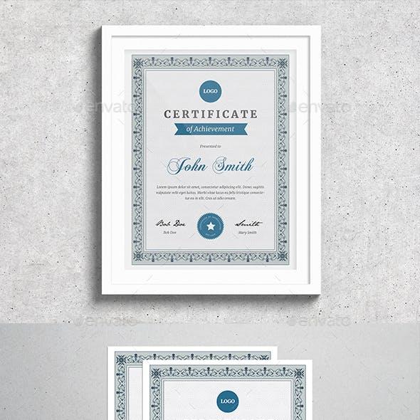 Vintage Certificate